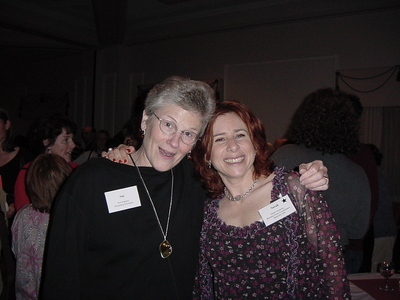 Sue Burgess and Sarah Aronson at the 2003 Conference