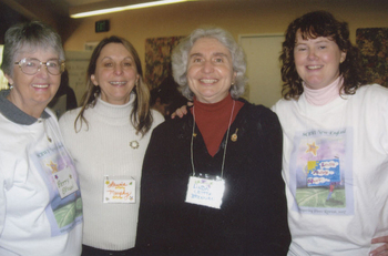 Dedicated volunteers (l to r) Betty Brown, former RA Laurie Murphy, former RC Linda Brennan, Whispering Pines Coordinator Lynda Hunt